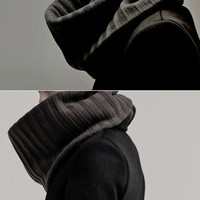 Chunky Ribbed Knit Huge Snood - restock