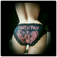 High on Fire Cotton and Lace Bikini Panty XS S M