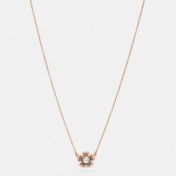 Freshwater Pearl Tea Rose Necklace