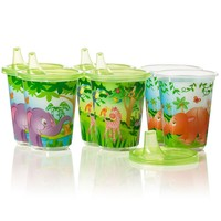Evenflo Feeding 6-pk. Zoo Friends 10-oz. Convenience Sippy Cups (Green)