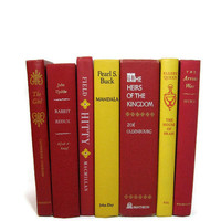 Vintage Books Yellow Red Collection for by DecadesOfVintage
