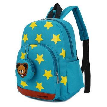 Age 1-3  Toddler Backpack Starts Printed Kids Bag Nylon Backpacks Animal Printing Children Backpacks for Boy Girl Backpacks