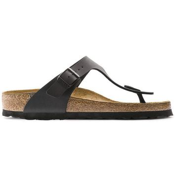 Birkenstock Gizeh Birko Flor Black 0043691/0043693 Sandals - Ready Stock