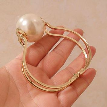 Simply Pearl Statement Cuff - LilyFair Jewelry