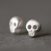 Michelle Chang - Sterling Baby Skull Earrings