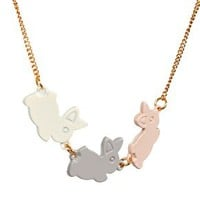 And Mary Enamel Bunnies Necklace at asos.com