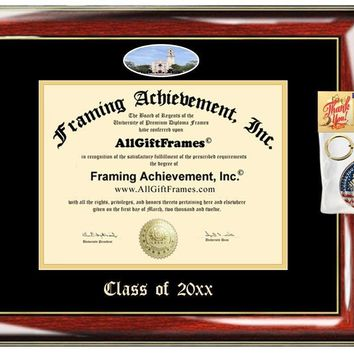 AllGiftFrames Custom Diploma Frame Embossed College Custom University of San Diego Best Graduation Degree Frame Double Campus USD Fisheye Picture Frame Cheap Degree Gift
