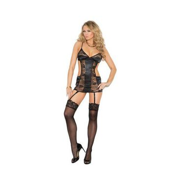 SATIN AND LACE CHEMISE