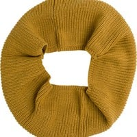 TWIST CABLE KNIT INFINITY SCARF