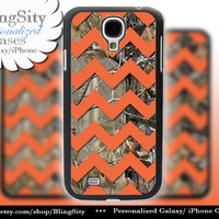 Camo Orange Chevron Galaxy S4 case S5 Real Tree Camo Deer Personalized Monogram Samsung Galaxy S3 Case Note 2 3 Cover