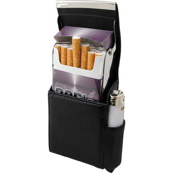 Genuine Leather Cigarette Case Holder