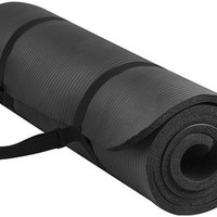 "Sunny Exercise Mat Thick High Density Exercise Yoga Mat with Carry Strap (Size 71""24"")"