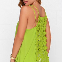 Others Follow Charisse Chartreuse Top