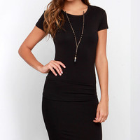 Laurel Canyon Black Midi Dress
