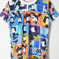 Harajuku Felix The Cat Shirt from Tobi's Finds