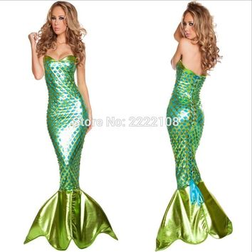Adult New Dress Mermaid Costumes Halloween Cosplay Princess ariel Dress Romantic Beauty Dress Sea Maid Sexy Dress Woman Cosplay