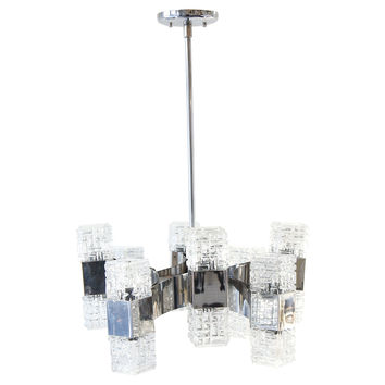 Mid-Century Modern European Chandelier
