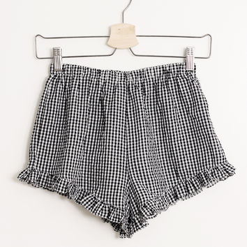 Gingham Ruffle Shorts