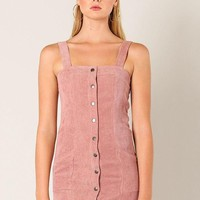 A-Corduroy To You Mini Dress in Mauve