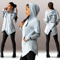 New fashion  women Hoodies sweatshirts letter long-sleeved hooded Harajuku Plus Size Sportswear LJ1212E