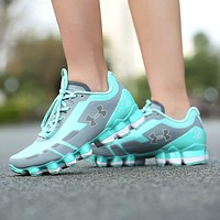 Best Deal Online Under Armour UA Scorpio Women Running Shoes Gray Mint Green White