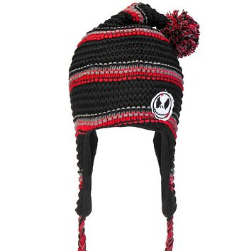 Nightmare Before Christmas - Jack Head Pom Pom Peruvian Knit Hat