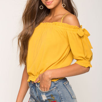 Emily Cold Shoulder Top