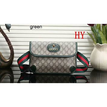 GUCCI 2018 Women's Delicate Casual Trendy Shoulder Bag F-LLBPFSH green