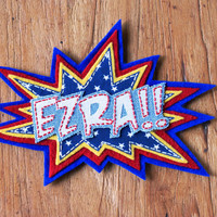 Kids Wall Art Name Plaque, in Comic Style POW Sign
