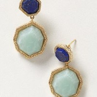 Tesserae Drops by Isharya Blue One Size Earrings