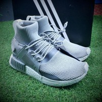 Best Online Sale Newest Adidas NMD XR1 Winter Boost Grey Mid Sleeves Socks Sport Shoes BZ0633