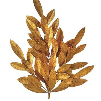 "Artificial Holiday Bay Leaves in Shiny Copper - 24"" Tall"