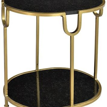 Owens Side Table with Black Marble