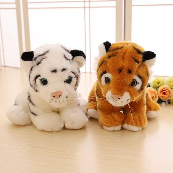 Soft Stuffed Wild Cat Animals Tiger Plush Toys For Children Gift