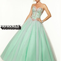 Style With High Slit Paparazzi Prom Dress By Mori Lee 97133