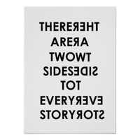 Two Sides to Every Story Mirror poster