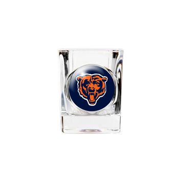 Chicago Bears 2oz Square Shot Glass - Etching Personalized Gift Item