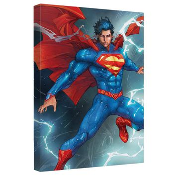 Superman - Super Lightning Canvas Wall Art With Back Board
