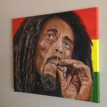 reggea  Bob Marley  original  oil painting --2018 Home Decor ART oil painting --100% hand painted art work-Free shipping cost