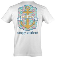 Simply Southern Preppy Collection Shell Yeah T-shirt for Women in White PRPYEAH-WHITE