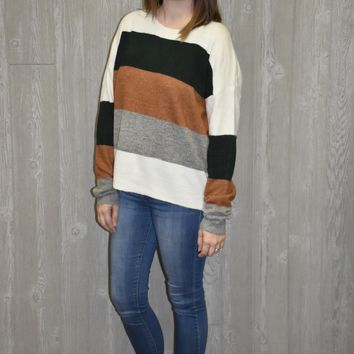 Free Falling Striped Sweater