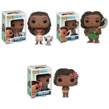 Funko Pop! Disney: Moana, Maui and Young Moana 9926.27.11443 Set of 3