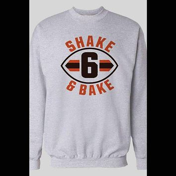 "BAKER MAYFIELD ""SHAKE AND BAKE"" SWEATER"