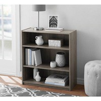 3-Shelf Wide Shelf Bookcase, Bookshelf for Dorm Room, Home Office, Living Room Kids Room Bedroom Furniture