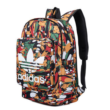 """Adidas"" Floral Casual Style School Backpacks Laptop Backpack Should Bag Travel Bag"