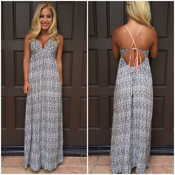 Vertigo Printed Maxi Dress