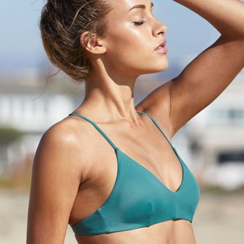 RVCA Solid Cross Back Bralette Bikini Top at PacSun.com
