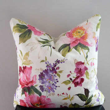 Bright Floral Decorative Pillow Purple/Green/Red/Pink/White
