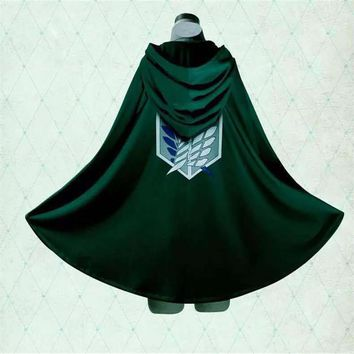 Cool Attack on Titan  Investigation Team dom Wing Commander Anime Character Levi Adult Cosplay Costume Ackerman Cape Cloak Jacket AT_90_11