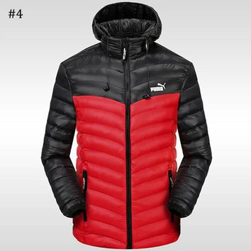 PUMA 2018 winter new sports and leisure warm down jacket #4